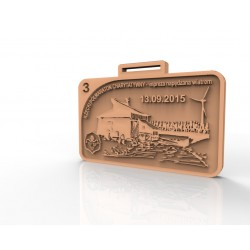 Medal okolicznościowy 50mm brąz