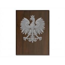 Ryngraf herb Polski srebrny