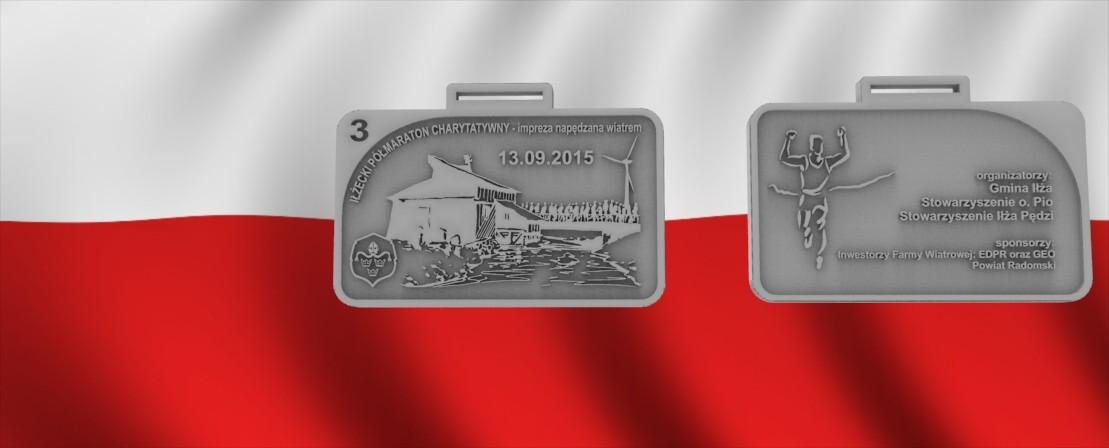 Medale sportowe na maratony, biegi, zawody.